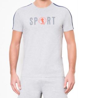 T-shirt gris Bikkemberg réf -C700165E1814A766