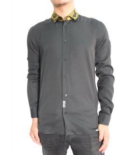 Chemise Versace Jeans Couture noir - B1GZA6S9 - ZUP201 slim CONT GOLD PAISLEY