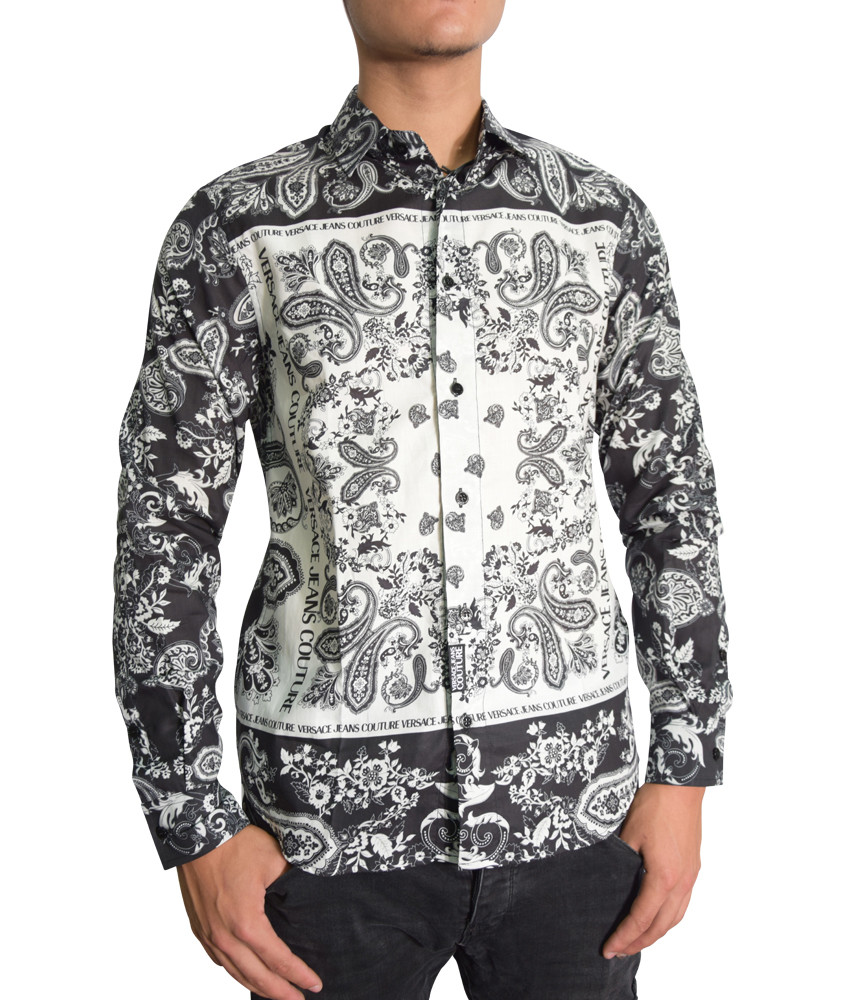 Chemise Versace Jeans Couture noir - B1GZA6R2 - ZUP200 PANEL BANDANA