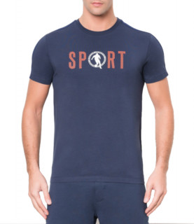 T-shirt bleu Bikkemberg réf - C700165E1814AY91