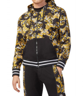 Sweat zippé Versace Jeans Couture noir - B7G2A701 - ZUP301CO PRINT ALLOVER