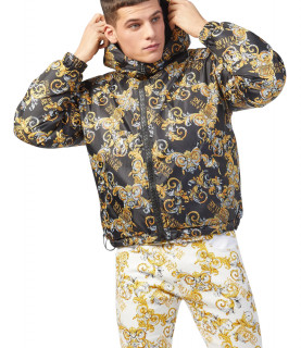 Doudoune Versace Jeans Couture réversible - E5GZA9B3 - ZUP413 REV. PRINT LOGO BAROQUE