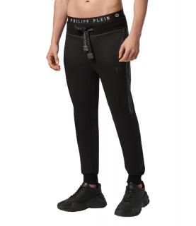 Jogging Philipp Plein noir strass - F20C MJT1639 PJO002N