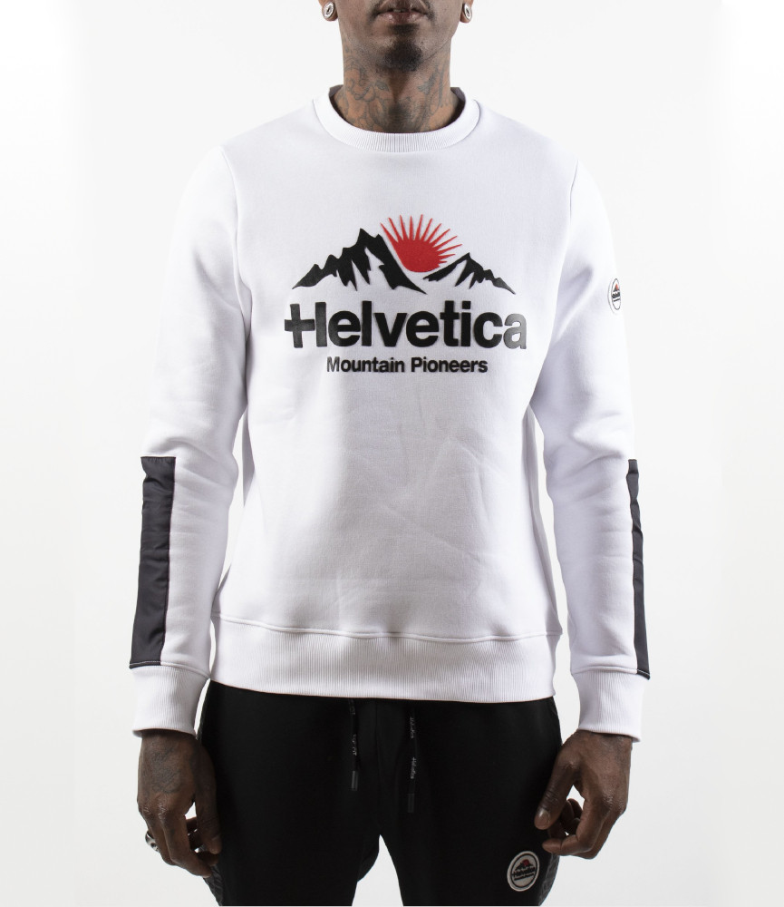 Sweat Helvetica blanc - AVRON