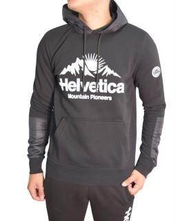 Sweat Helvetica encapuchonné noir - ISERE