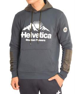Sweat Helvetica encapuchonné bleu - ISERE