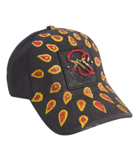 Casquette Redfills noir - DROP RED AND GOLD