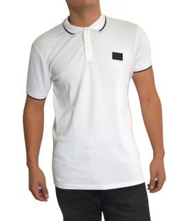 Polo My Brand blanc - MMB-P009-G3001