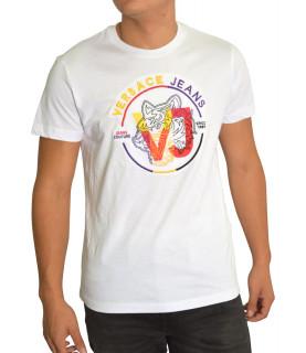 Tshirt Versace Jeans blanc - B3GTA76J