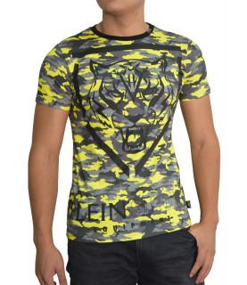 Tshirt Plein Sport camou noir jaune - MTK0565 SJY001N