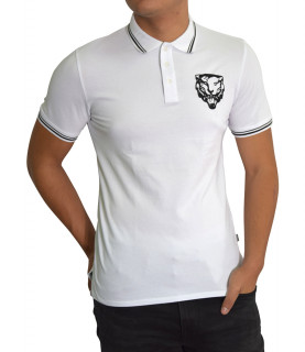 Polo Just Cavalli blanc - S03GL0014