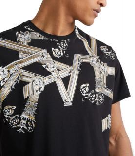 T-shirt Versace Jeans noir - B3GTB72D - PRINT 15 REGULAR MC
