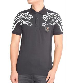 Polo Plein Sport noir - MTK0535 SJ001N