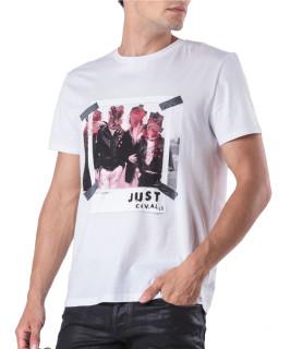 Tshirt Just Cavalli blanc- S03GC0498