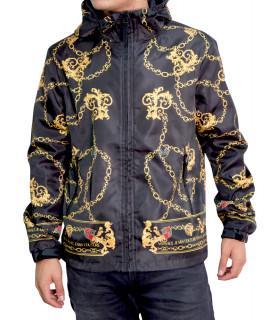 Veste Versace Jeans Couture coupe vent noir - C1GZB9A8 - ZUM408 PRINT