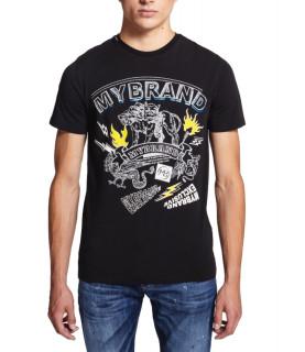 T-shirt My Brand noir - MYTH CERBERUS