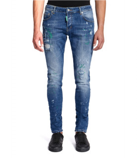 Jeans My Brand bleu - DENIM DARK GREEN SPOTTED JEANS