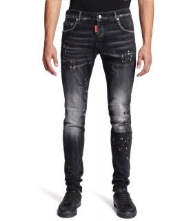 Jeans My Brand noir - DENIM BLACK RED SPOTTED JEANS