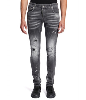 Jeans My Brand - DENIM GREY BLEACHED SPOTTED JEANS