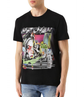 T-shirt noir just cavalli réf : S01GC0494