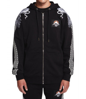 Sweat zippé My Brand noir - ORIENTAL EXPRESS ZIPPER H
