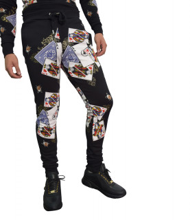 Jogging My Brand noir - POKERCARDS AOP JOGGING PA