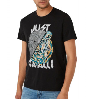 Tshirt Just Cavalli noir - S01GC0501