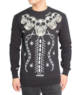 Sweat My Brand noir - MMB SW012 GM038 - SKULLS VOODOO