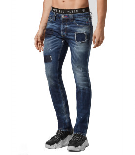 Jeans Philipp Plein bleu - SUPER STRAIGHT CUT HEXAGON