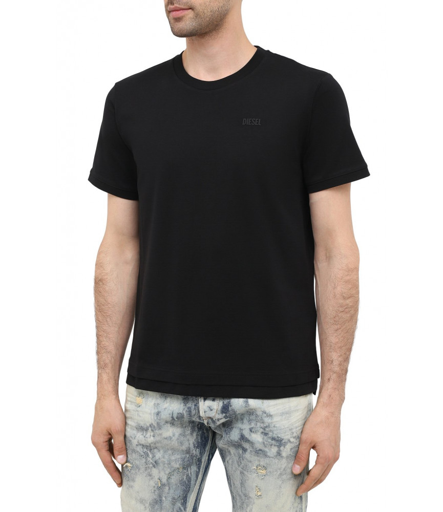 Tshirt Diesel noir - A00400 0HAYU 9XX