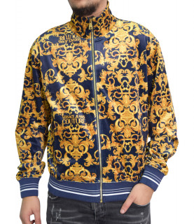 Versace Jeans couture - sweat VERSACE JEANS COUTURE bleu - B7GWA733 WUP313co PRINT LOG BAROQUE