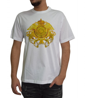 Versace Jeans couture - Tshirt Versace Jeans Couture blanc - B3GWA740 WUP601 2 CRYSTAL