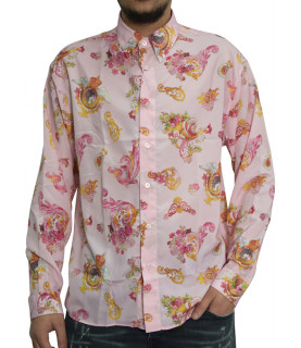 Chemise Versace Jeans Couture rose - B1GWA607 WUP207 loose