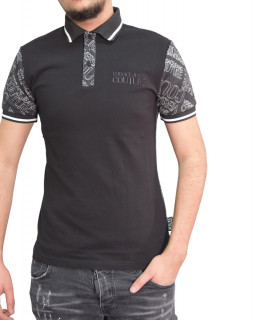 Polo VERSACE JEANS COUTURE noir B3GZB7P1 - POLO ZUM621co LOGOMANIA