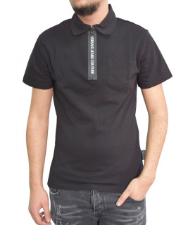 Polo VERSACE JEANS COUTURE noir B3GZA79T - POLO ZUP622 ZIP