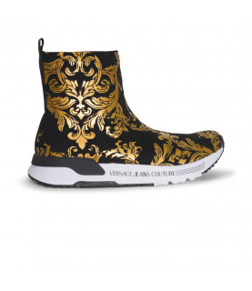 Baskets Versace Jeans Couture noir - E0VWASA4 LINEA FONDO AERODYNAMIC DIS.4