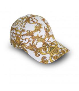 Casquette VERSACE JEANS COUTURE blanc - E8YWAK13 - LINEA MAN CAP DIS.6