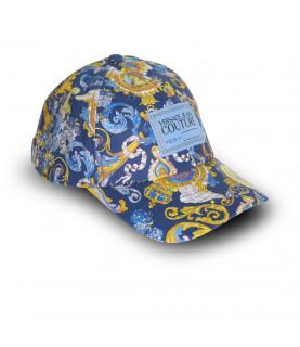 Casquette VERSACE JEANS COUTURE bleu - E8YWAK14 - LINEA MAN CAP DIS.7