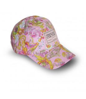 Casquette VERSACE JEANS COUTURE rose - E8YWAK14 - LINEA MAN CAP DIS.7