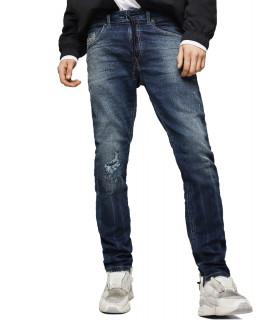 Pantalon slim Diesel - Thommer JoggJeans 069HI bleu foncé