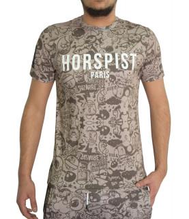 T-shirt HORSPIST taupe - BARTH-M304 SAND TOYS