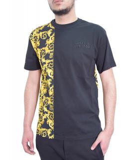 T-shirt VERSACE JEANS COUTURE noir - B3GWA7R1 - WUP601 reg BIS CONTR BAROQUE