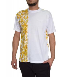 T-shirt VERSACE JEANS COUTURE blanc - B3GWA7R1 - WUP601 reg BIS CONTR BAROQUE