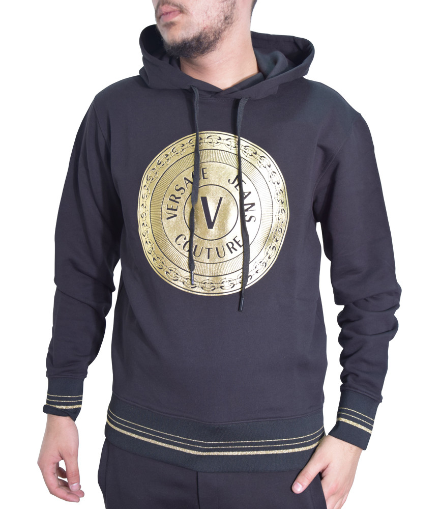 Sweat VERSACE JEANS COUTURE noir - B7GWA7TX - WUP306 ROUND FULL