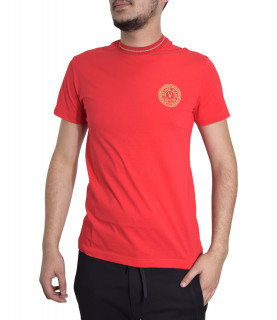 T-shirt VERSACE JEANS COUTURE rouge - B3GWA7TF - WUP600 SLIM ROUND SMALL EMB