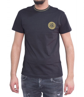 T-shirt VERSACE JEANS COUTURE noir - B3GWA7TF - WUP600 SLIM ROUND SMALL EMB