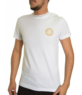 T-shirt VERSACE JEANS COUTURE blanc - B3GWA7TF - WUP600 SLIM ROUND SMALL EMB