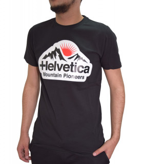 T-shirt HELVETICA noir - POST - H500 BLACK