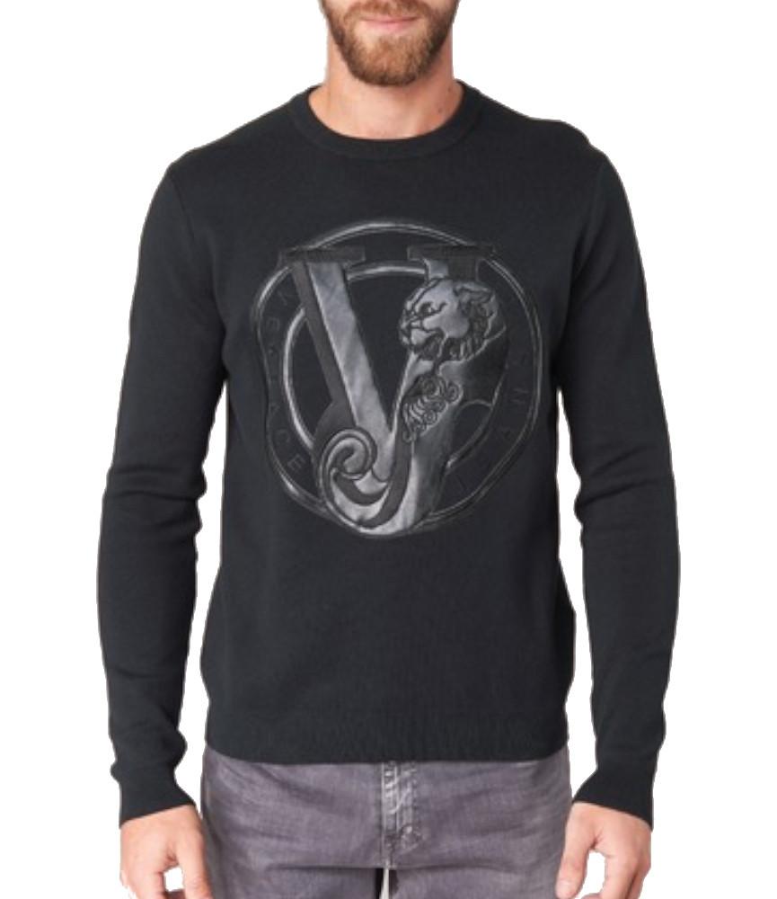 Pull Versace Jeans B5GQA820 noir