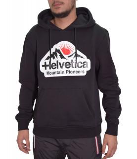 Sweat HELVETICA noir - DIEPPE - H300 BLACK